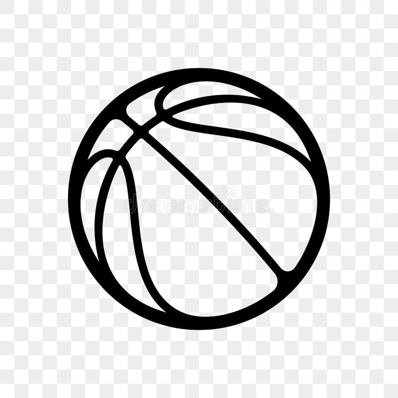 Koszykówka balowego loga wektorowa ikona odizolowywająca royalty ilustracja