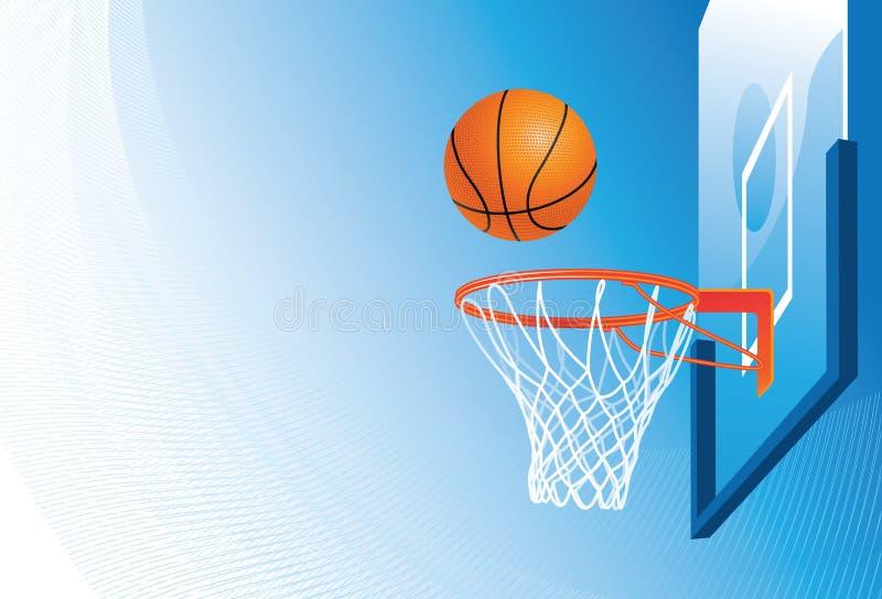 koszykówka balowy obręcz royalty ilustracja