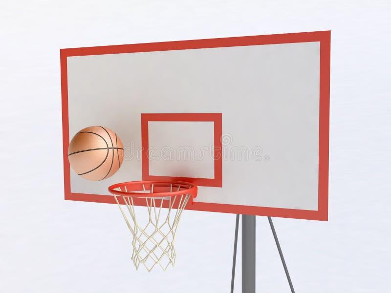koszykówka balowy obręcz ilustracja wektor