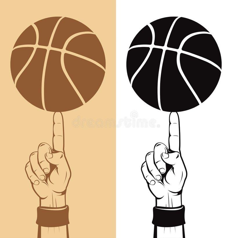 koszykówka balowy palec ilustracji
