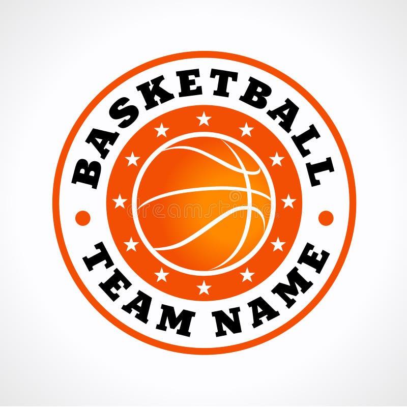 Koszykówka bawi się wektorowego loga ilustracji