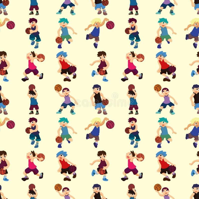 Koszykówka bezszwowy wzór ilustracji