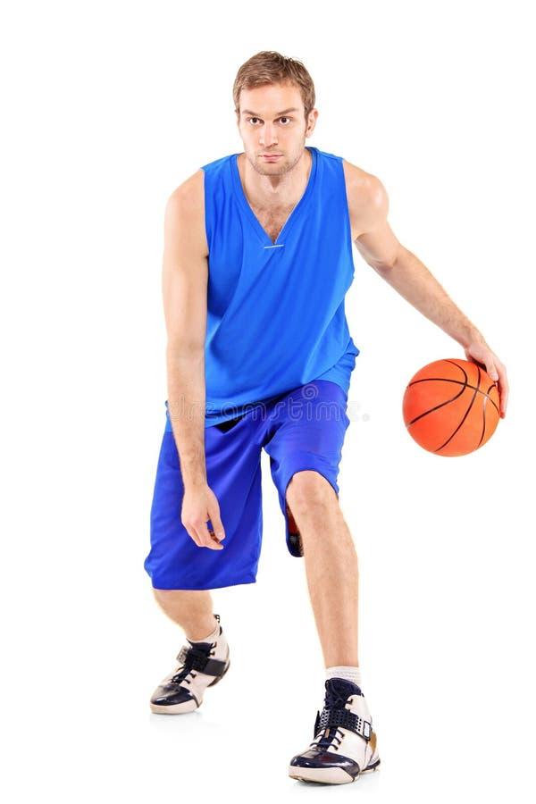 koszykówka folujący długości gracza portret obraz stock
