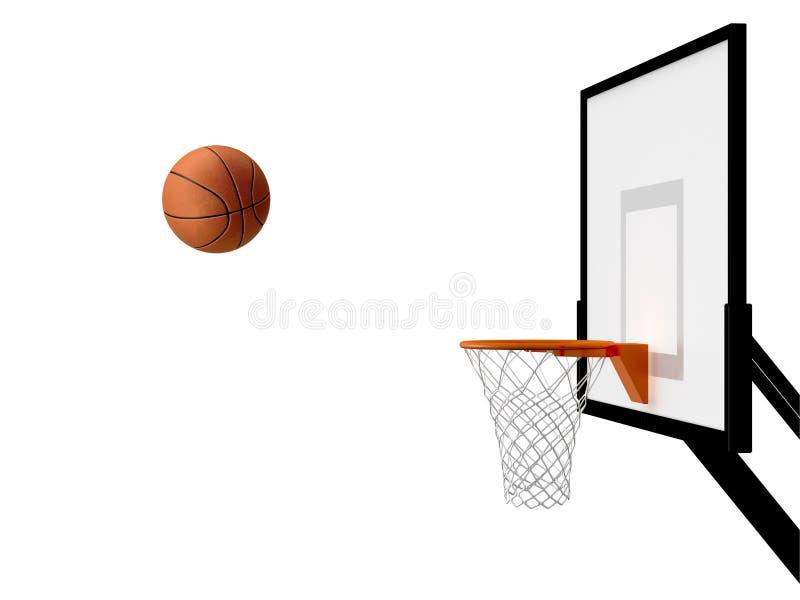 Koszykówka kosz royalty ilustracja