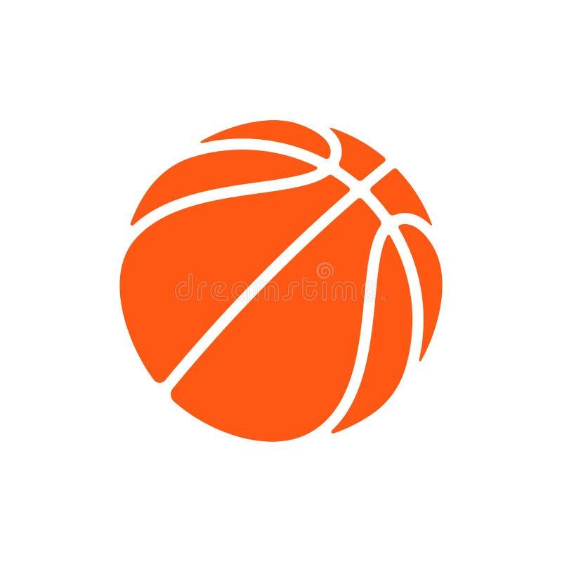 Koszykówka loga wektorowa ikona dla streetball mistrzostwa turnieju, szkoły lub szkoła wyższa drużynowego liga, Wektorowy płaski  royalty ilustracja