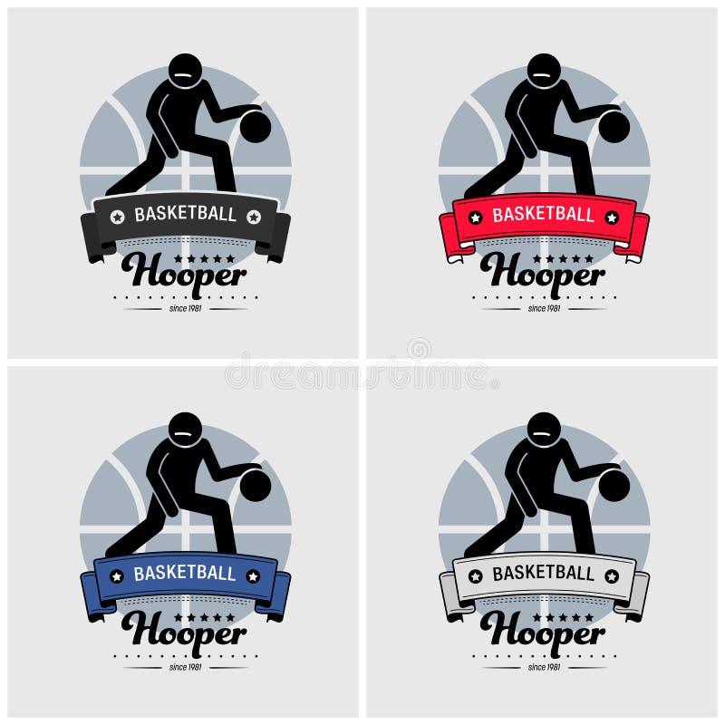 Koszykówka logo świetlicowy projekt ilustracja wektor