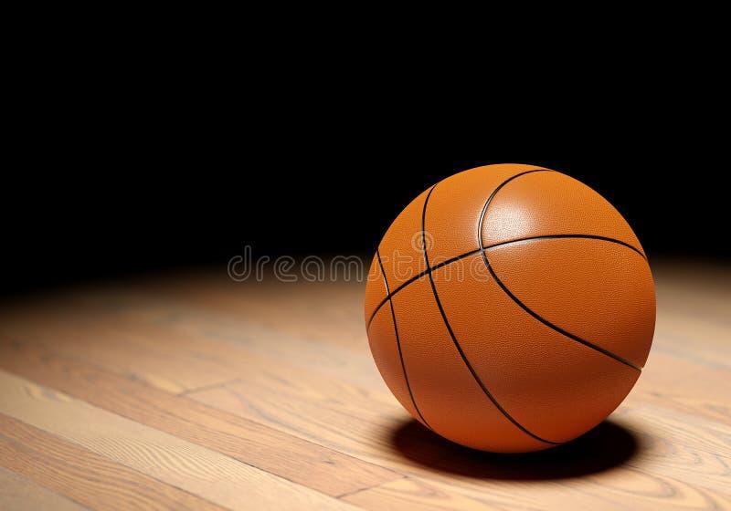 Koszykówka na ciemnym tle ilustracji