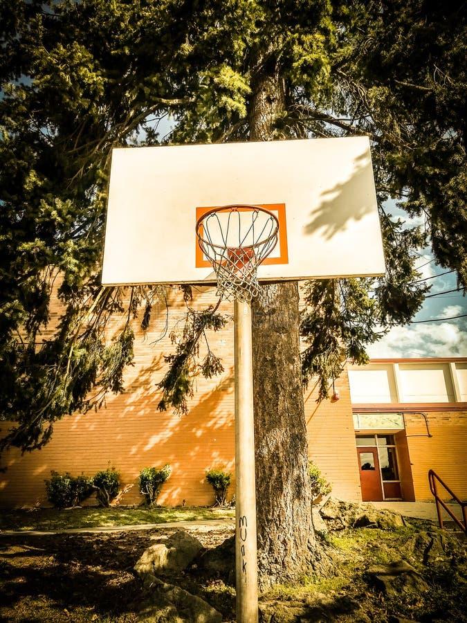 Koszykówka obręcz obrazy royalty free