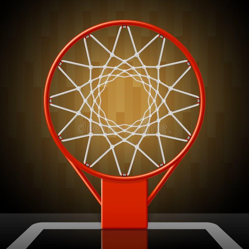Koszykówka obręcz ilustracji