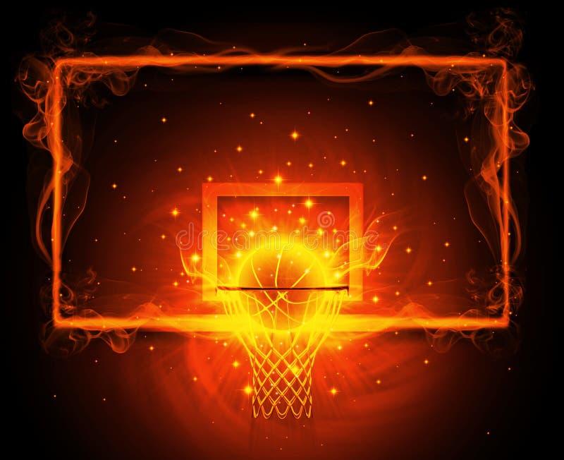 Koszykówka obręcz royalty ilustracja