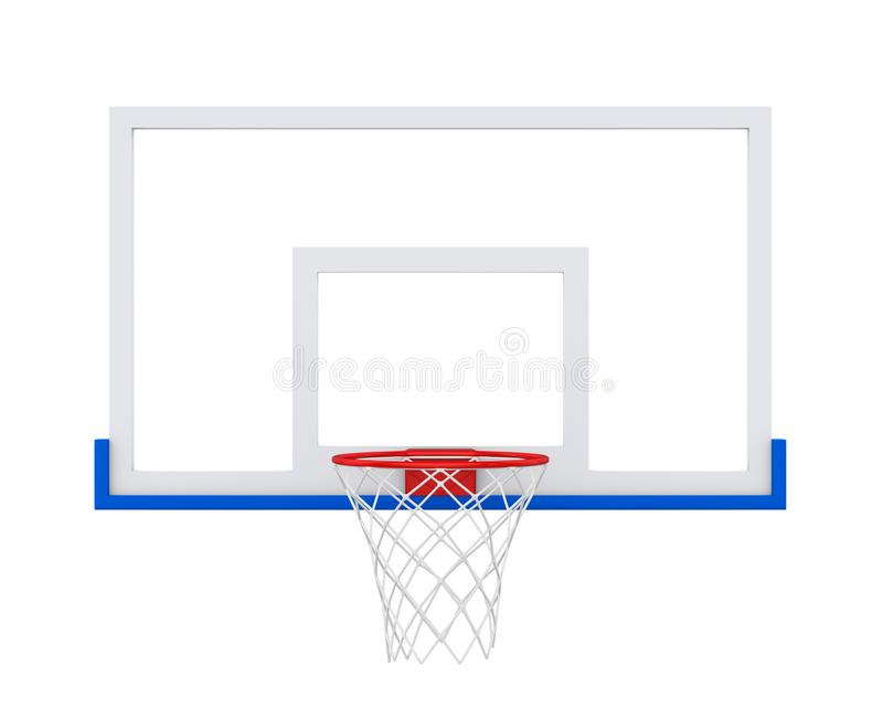 Koszykówka obręcz Odizolowywający royalty ilustracja