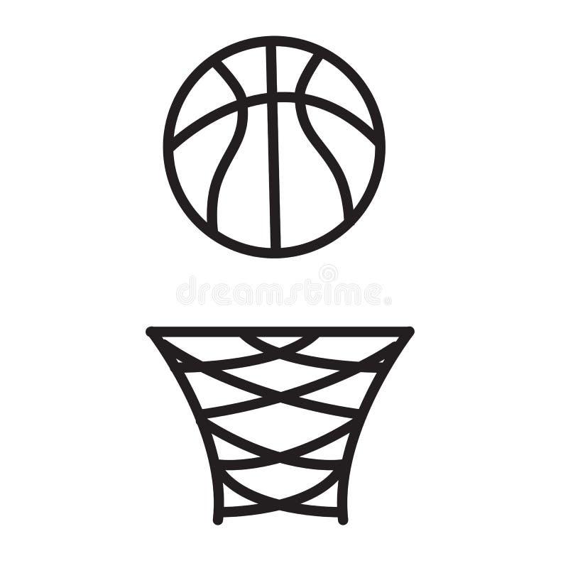 Koszykówka obręcza ikona na białym tle koszykówka obręcza znak ilustracji