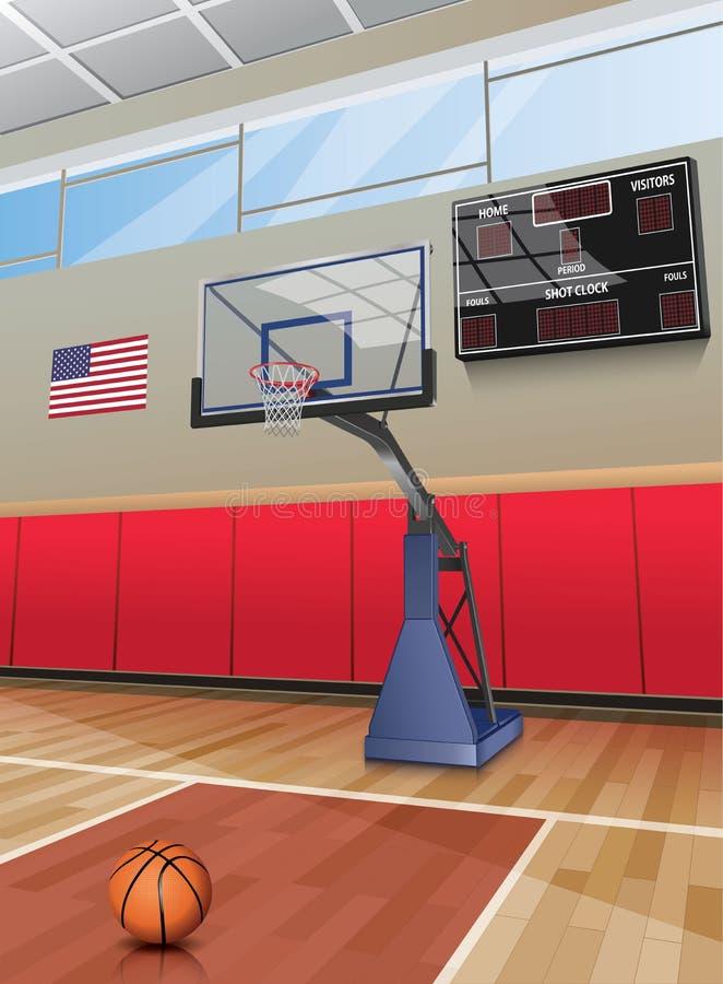Koszykówka obręcza sąd ilustracja wektor