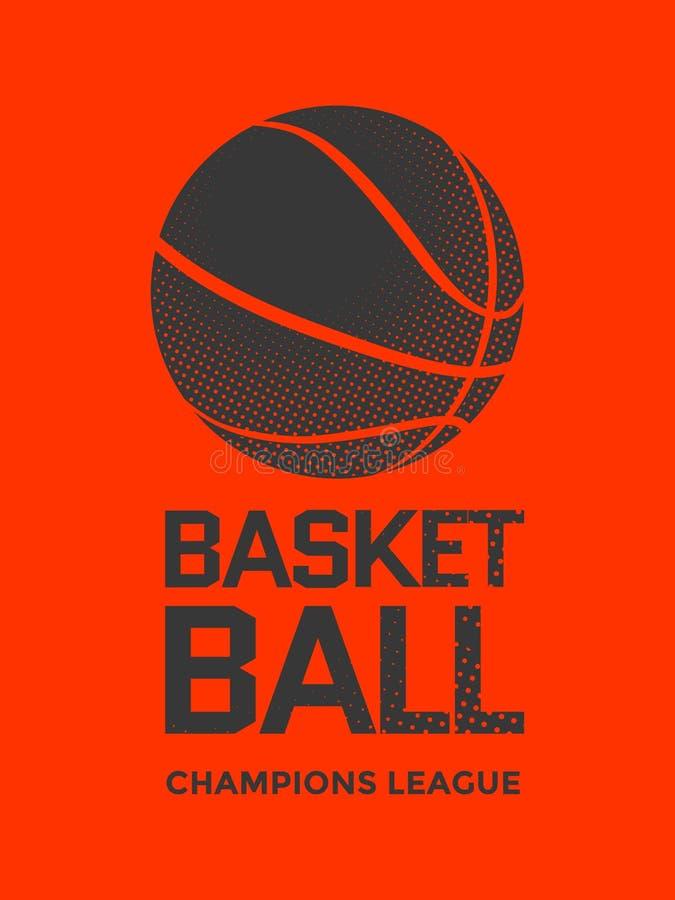 Koszykówka plakatowy projekt ilustracji