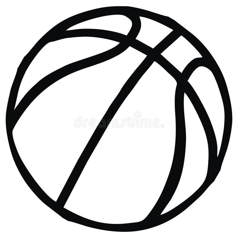 Koszykówka, pojedynczy przedmiot bawi się piłkę, wektorowa ikona royalty ilustracja