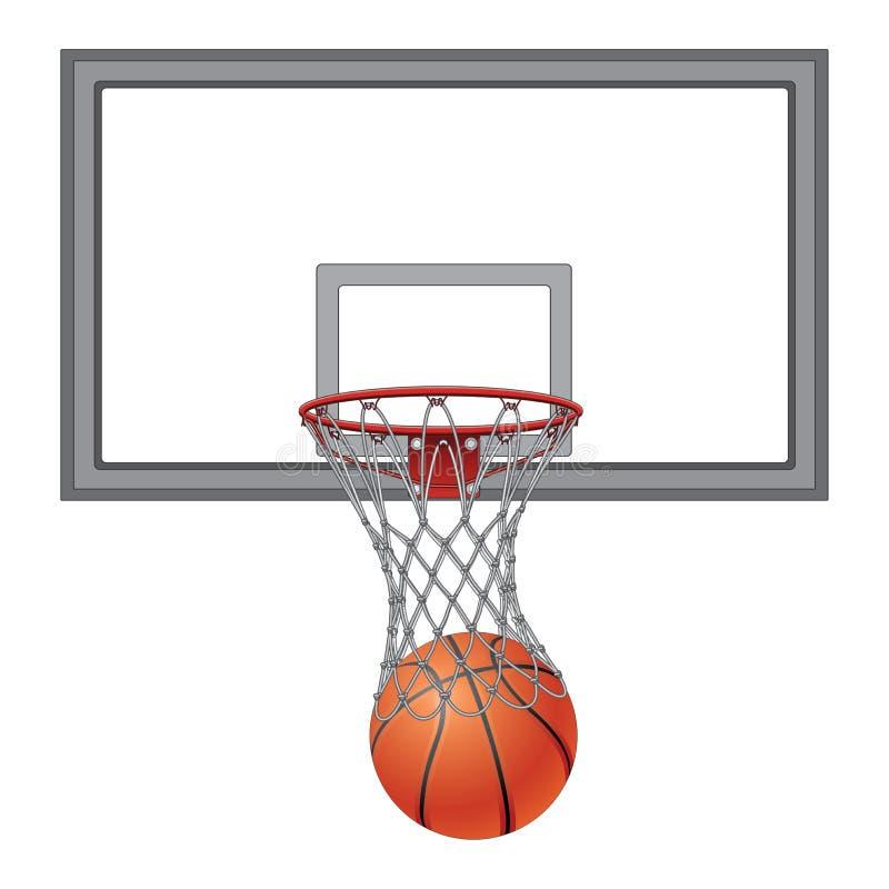 Koszykówka Przez sieci Z Backboard ilustracji
