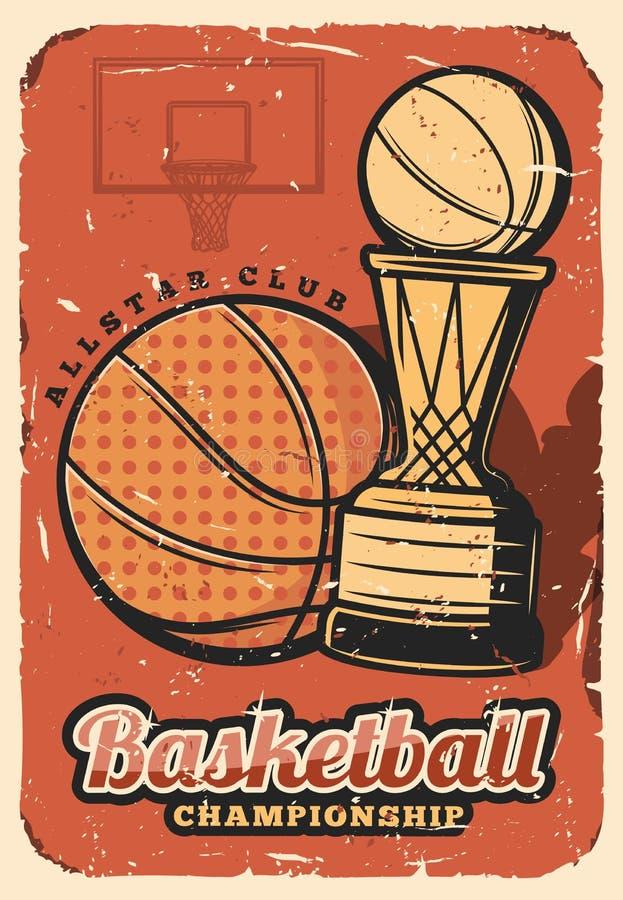Koszykówka sporta ligowa filiżanka, mistrzostwo ilustracji