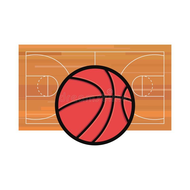 Koszykówka sporta projekt ilustracja wektor