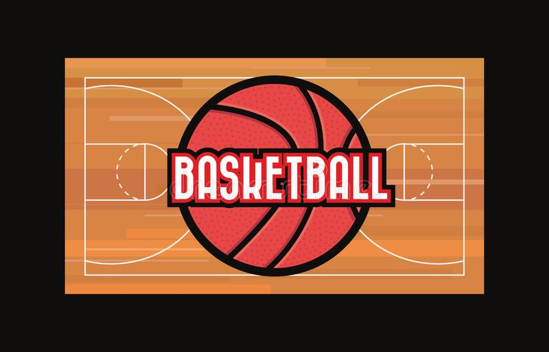 Koszykówka sporta projekt royalty ilustracja