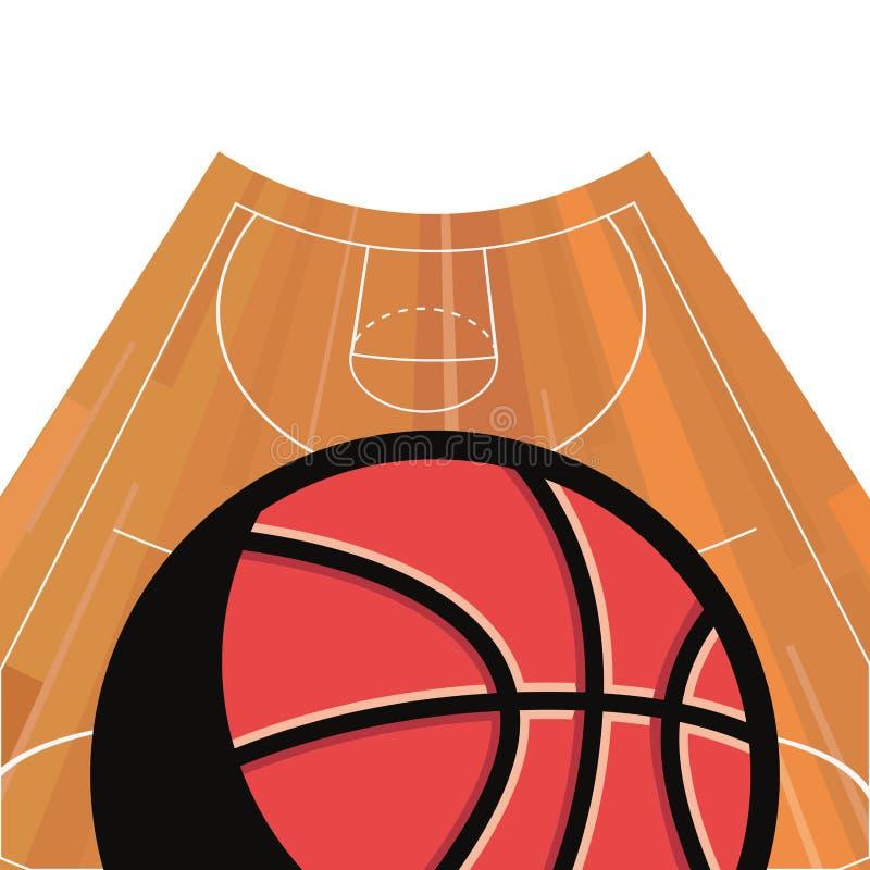 Koszykówka sporta projekt ilustracji