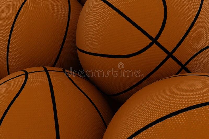 koszykówka tło royalty ilustracja