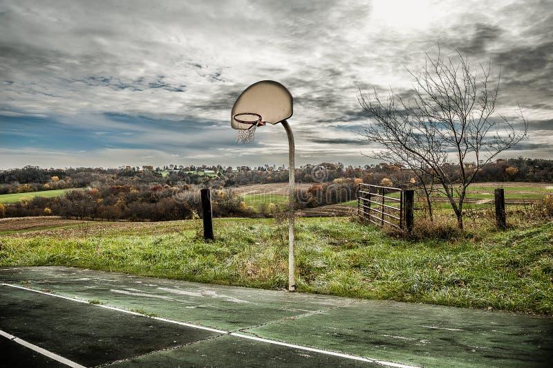 Koszykówka w kraju fotografia royalty free