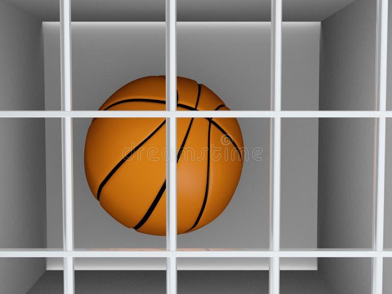 Koszykówka w więzieniu - sporta przestępstwo ilustracji