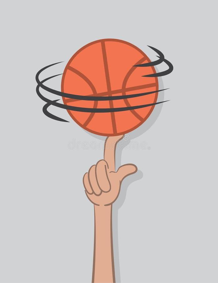 Koszykówka wiru palec ilustracji