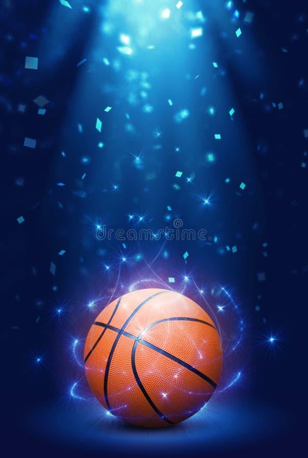 Koszykówka z confetti fotografia royalty free