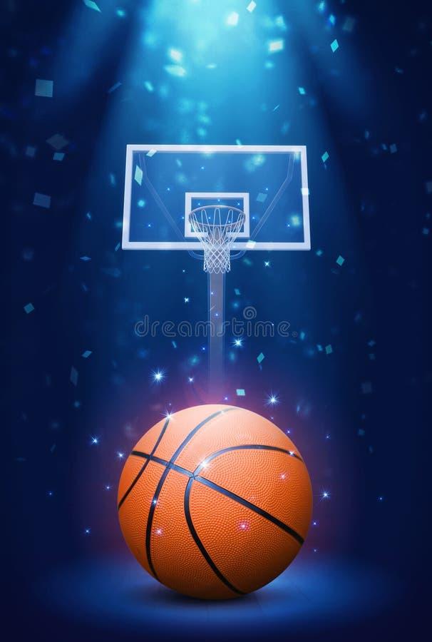 Koszykówka z confetti obraz stock