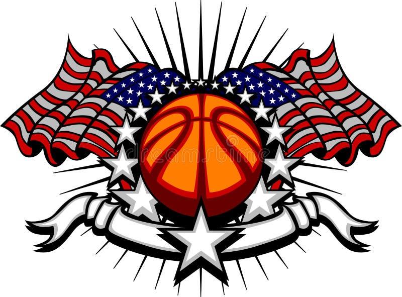 koszykówka zaznacza gwiazda szablon ilustracji