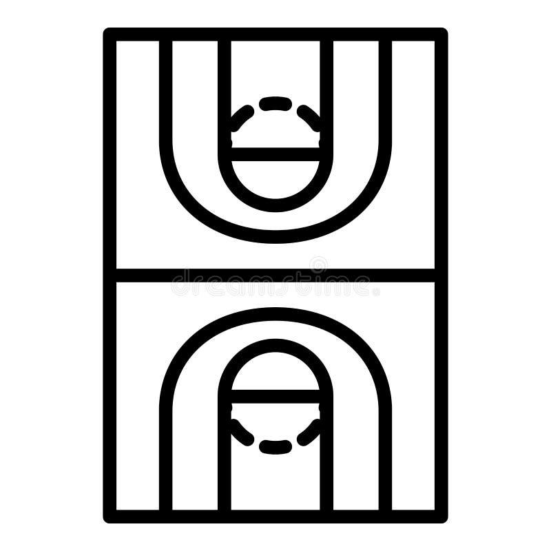 Koszykówki śródpolna ikona, konturu styl ilustracja wektor