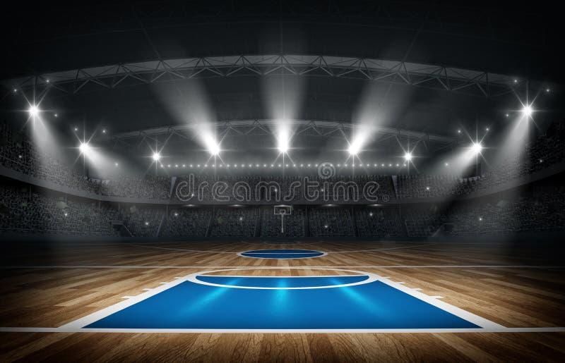 Koszykówki arena, 3d rendering zdjęcia stock