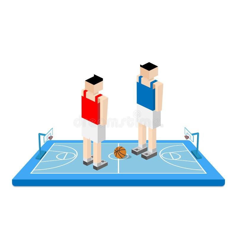 Koszykówki arena z graczem ilustracji