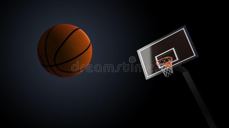 Koszykówki arena z koszykówki piłką ilustracji