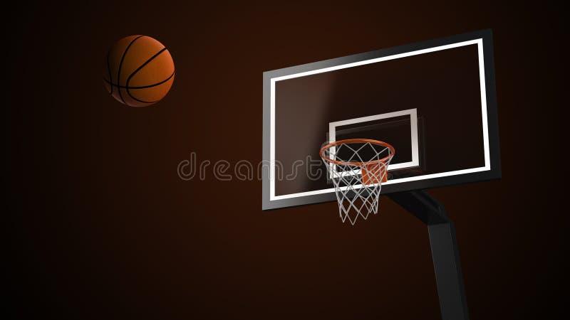 Koszykówki arena z koszykówki piłką ilustracja wektor