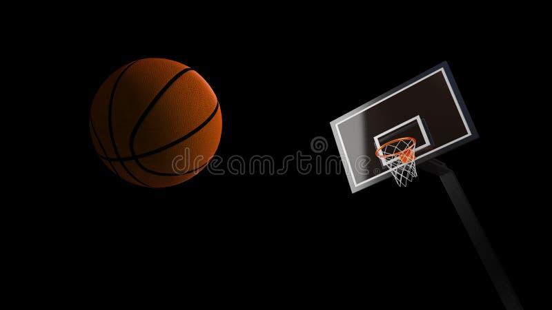 Koszykówki arena z koszykówki piłką royalty ilustracja