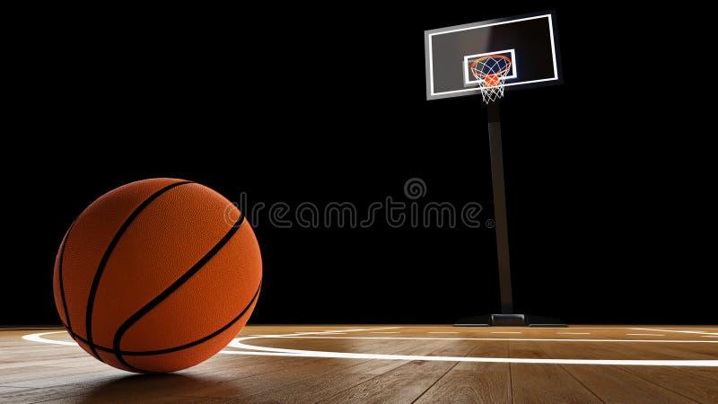 Koszykówki arena z koszykówki piłką zdjęcie stock