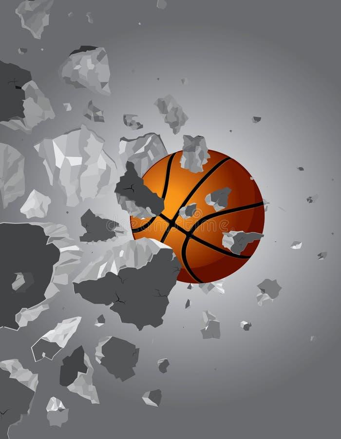 koszykówki balowa ściana ilustracji