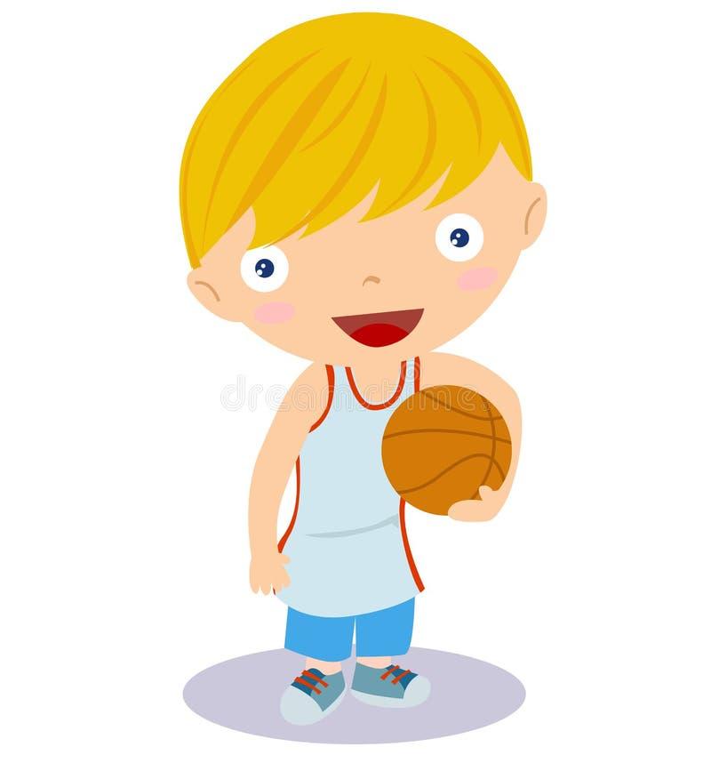 koszykówki chłopiec komiczka royalty ilustracja