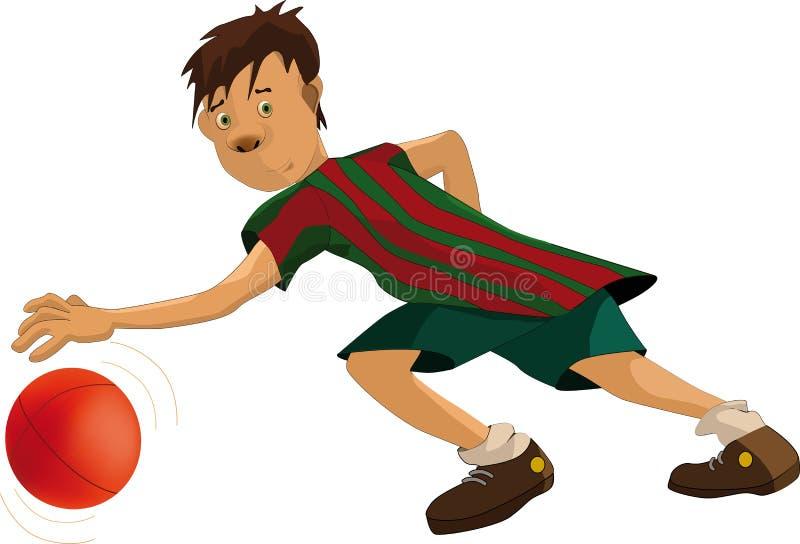 koszykówki chłopiec sztuka ilustracji
