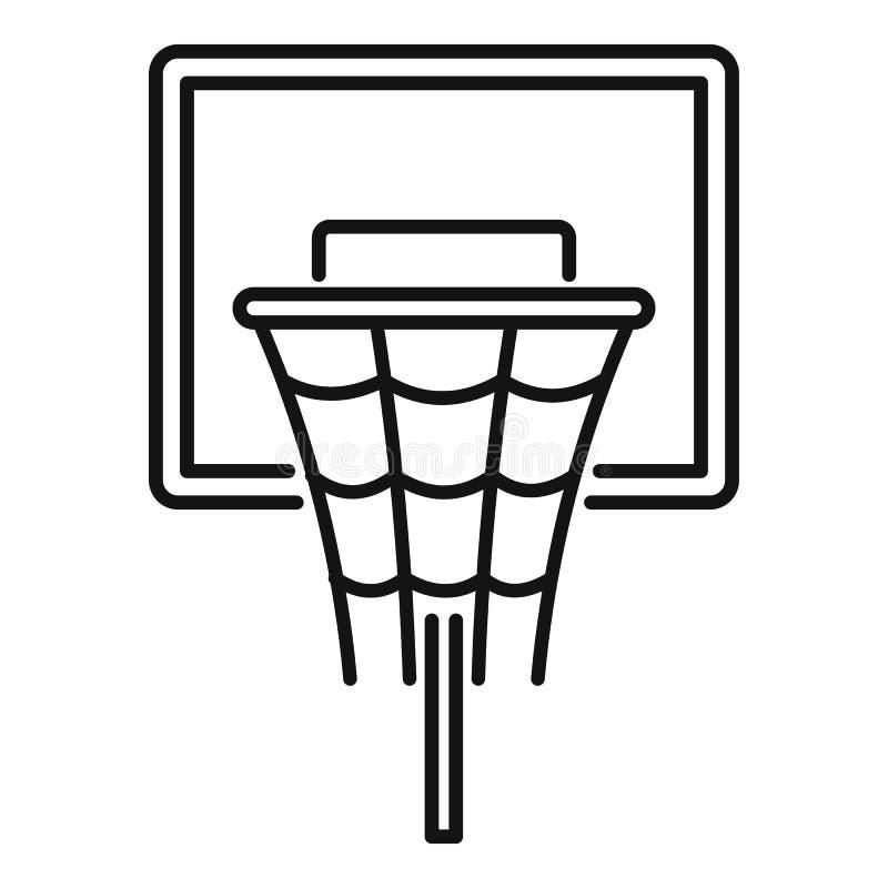 Koszykówki deskowa ikona, konturu styl royalty ilustracja