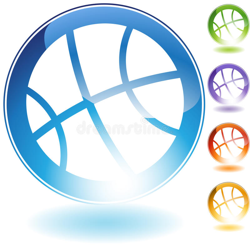 koszykówki ikona royalty ilustracja