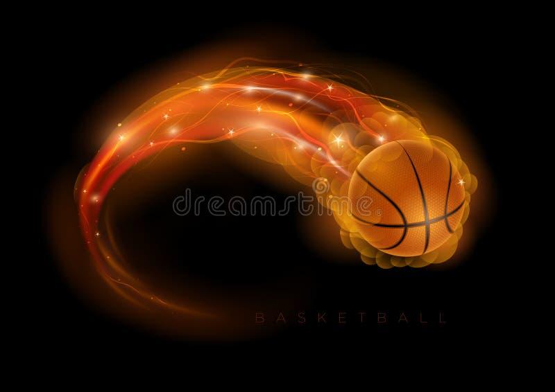 Koszykówki kometa ilustracja wektor