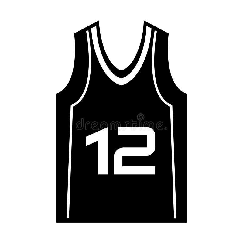 Koszykówki koszula munduru ikona ilustracja wektor