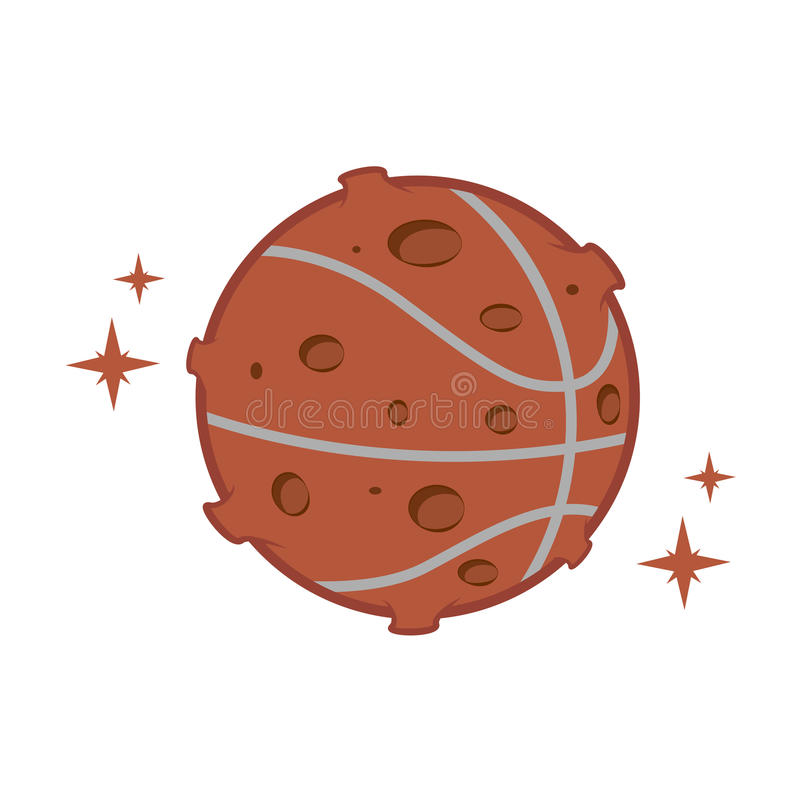 Koszykówki księżyc obrazy stock