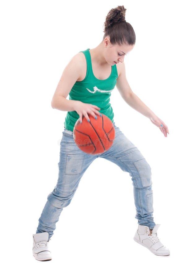 koszykówki piękni pracowniani kobiety potomstwa zdjęcie royalty free