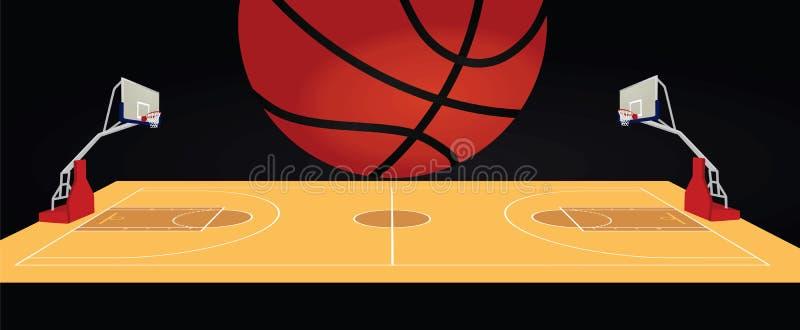 Koszykówki piłka i pole royalty ilustracja