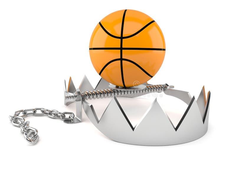 Koszykówki piłka na niedźwiadkowym oklepu royalty ilustracja