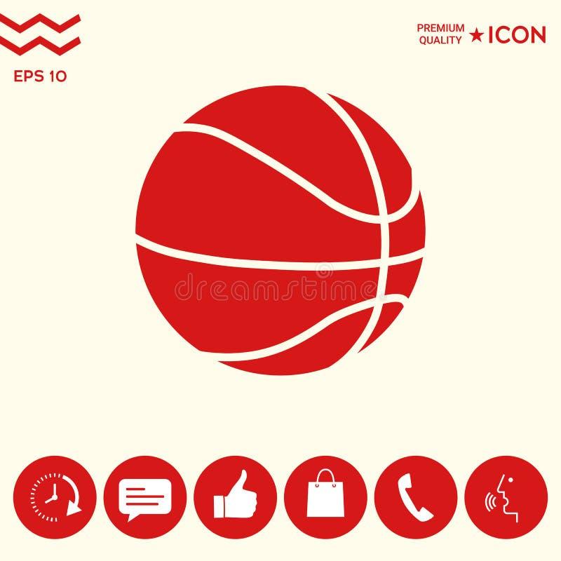 Koszykówki piłki ikona ilustracji